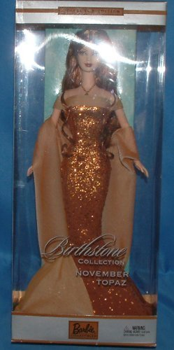 Mattel Barbie November Topaz Birthstone Collection