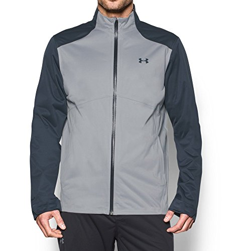 Under Armour Men's Storm Rain Jacket, Overcast Gray/Stealth Gray, Large by Under Armour