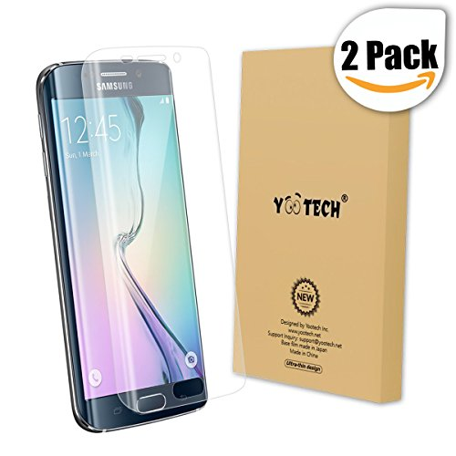 Galaxy S6 Edge Screen Protector,Yootech [2-Pack] Samsung Galaxy S6 Edge Screen Protector, Premium HD Clear Film with Free Lifetime Replacement Warranty by yootech