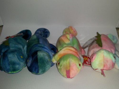 Ty Beanie Baby - Iggy the Iguana and Rainbow the Chameleon Collection (Iggy The Beanie Baby)