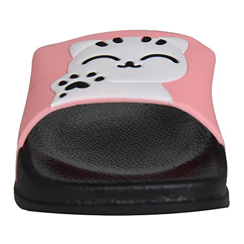 Cute Slippers Lucky Slide on Outdoor Pink Indoor Sport Athletic SITAILE Slip Cat Sandals Womens Slides qAwOXq4xU