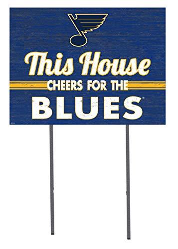 KH Sports Fan 18x24 Lawn Sign St. Louis Blues]()