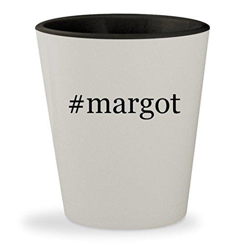 #margot - Hashtag White Outer & Black Inner Ceramic 1.5oz Shot - Tenenbaum Margot Coat