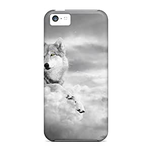 MooVers Iphone 5c Hybrid Tpu Case Cover Silicon Bumper Wolf Realm