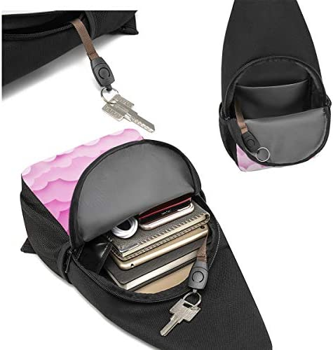 かわいい雲 斜め掛け ボディ肩掛け ショルダーバッグ ワンショルダーバッグ メンズ 多機能レジャーバックパック 軽量 大容量