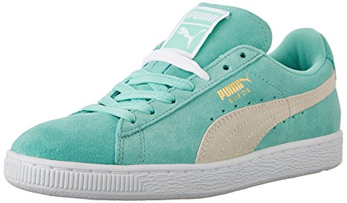 PUMA Women's Suede Classic Wn's Classic Style Sneaker,Holiday/White,9.5 B US (Green Puma Sneakers)