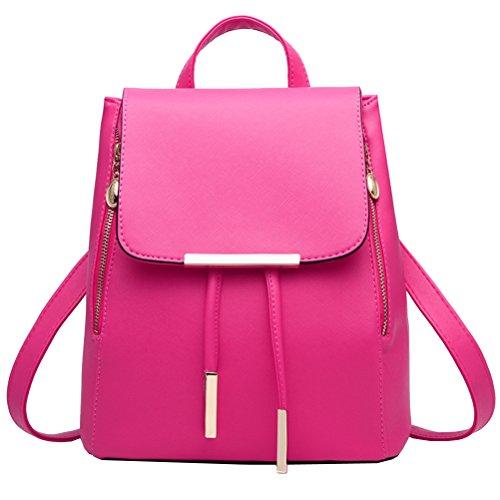 Vusum Women's Casual Travel Backpack Shoulder Bag Black Rose
