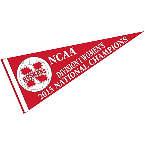 Nebraska Huskers Women's Volleyball Champions Pennant (Pennant Womens Flag)