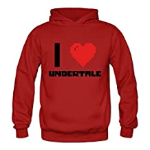 HUBA Women's Hoodies Undertale Red