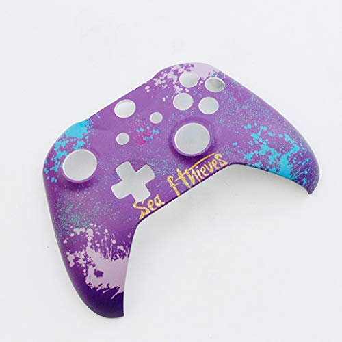 (EiowordsReplacement Shell Case Universal Front Top Faceplate Case Cover Handle Shell for ONE Slim/X Gamepad with Replacement Buttons and Handles (Purple) )