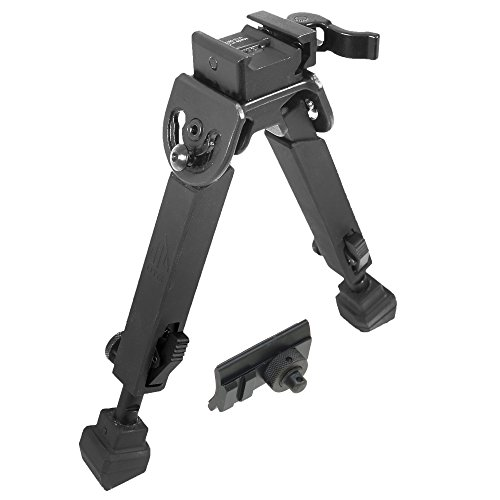 (UTG Rubber Armored Full Metal QD Bipod, Height 6.0