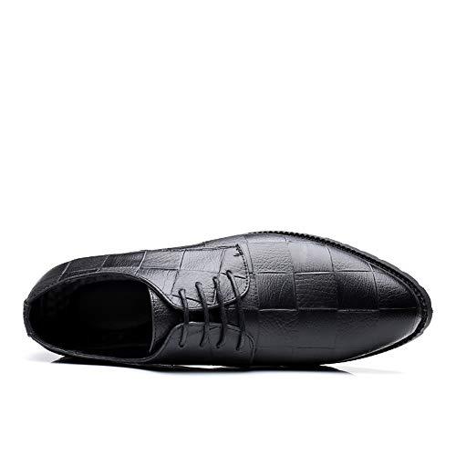 Noir Up Noir Eu Hommes Ofgcfbvxd À Britannique Lace Casual Loisirs Formelles Grid Décontractées Modèle Pour color Style Taille Oxford 41 De Lacets Pointed Chaussures qBvHg