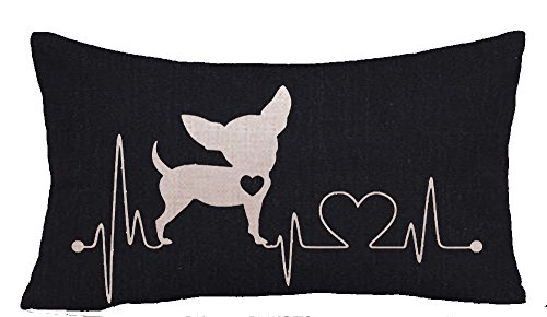 Cute funny animal kangaroo Deer Bird Chihuahua dog Cotton Linen Square Throw Waist Pillow Case Decorative Cushion Cover Pillowcase Sofa12