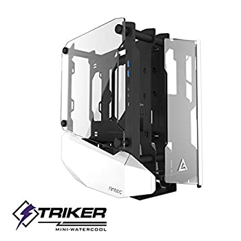 Image of Computer Cases Antec Striker Aluminum and Steel ITX Computer Case, Front GPU Mount, Up to 4 x 120 mm Fan Support, USB 3.1 Type-C Ready and PCI-E Riser Included