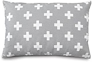 product image for Olli & Lime Gray Cross Pillow