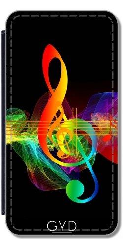 Leder Flip Case Tasche Hülle für Apple iPhone SE - Musik Klavier Musikalisch by WonderfulDreamPicture