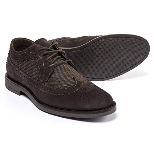 A Testoni Suede Oxfords - A. Testoni Made in Italy Diffusion Suede and Nylon Oxford Shoes (for Men) Size 8 Brown