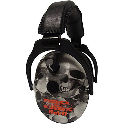 Pro Ears ReVO Kids Full Spectrum Electronic Safety Ear Muffs, Skulls