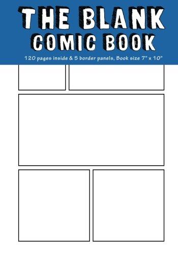 - Blank Comic Book: 6 Plain Staggered Comics Panels,7