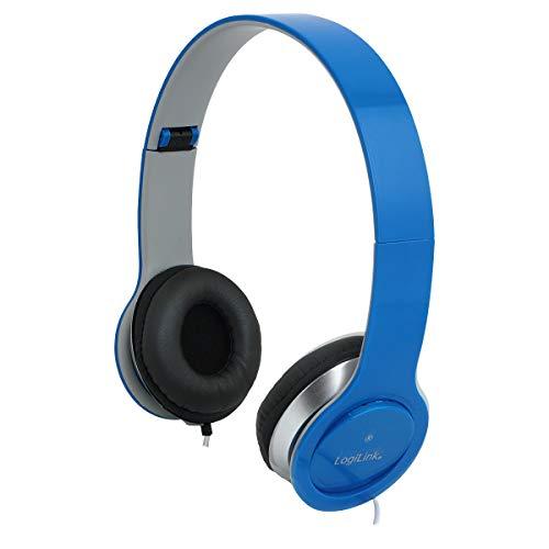 LogiLink HS0031 Stereo High Quality headset met microfoon, hoog draagcomfort en verstelbare + inklapbare beugels, zwart…