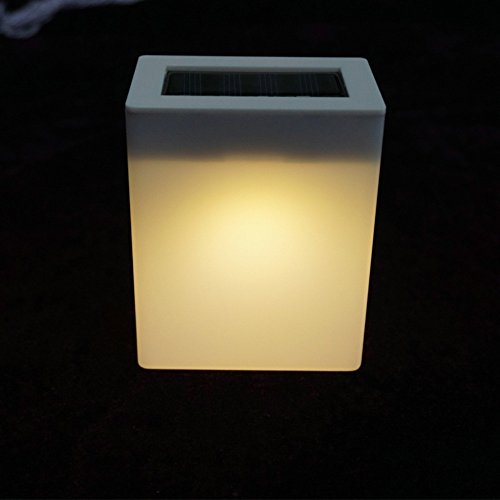 SHJNHAN 1pc Outdoor Solar Wall Light Garden Lights Fence Lamp Camping Lamp Bar Table Lamp (B)