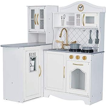 Teamson Kids - Little Chef Marseille Retro Play Kitchen - White