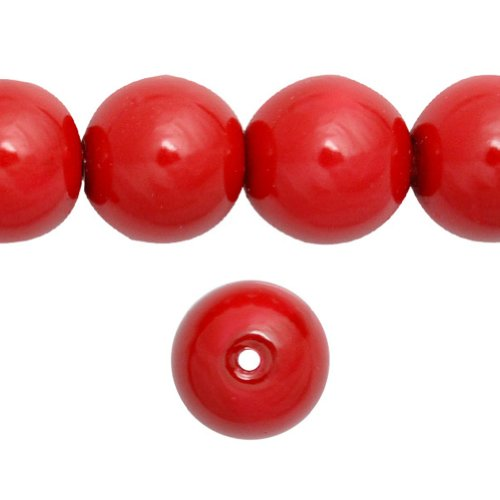 Coral 10mm Round Beads - 7