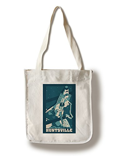 Huntsville, Alabama - Astronaut and Shuttle (100% Cotton Tote Bag - - Shopping Huntsville Alabama