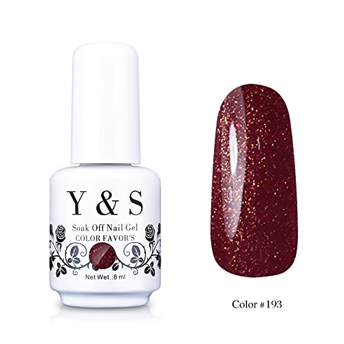 Yaoshun Gelpolish, Soak-off (Gel Nail Polish) UV LED Nail Art/Beauty Care Chocolate Brown Coffee Color 8ml -#193
