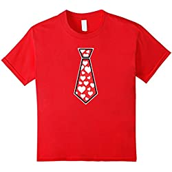 Kids Valentines Day Tie Gift T Shirt Adults and Youth Sizes 6 Red