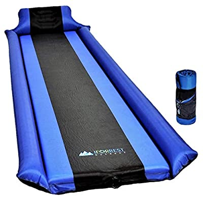 IFORREST Sleeping Pad with Armrest & Pillow - Best Self-Inflating Air Mattress for Camping Cot, Tent and Hammock!