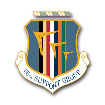 Us air force 60th support group decal sticker 3 8