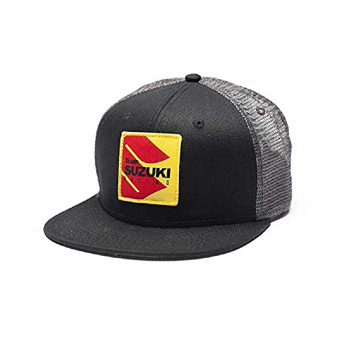 New Factory Effex Suzuki Racing Snapback New Era Hat Black/Grey P/N 22-86402