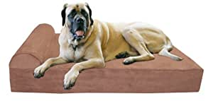 Big Barker 7-Inch Pillow Top Orthopedic Extra Large (52 X 36 X 7-Inch) Bed for Dogs - Khaki