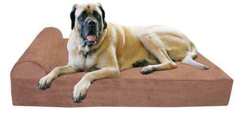Big Barker 7' Orthopedic Dog Bed with Pillow-Top (Headrest Edition) | Dog Beds Made for Large, Extra...