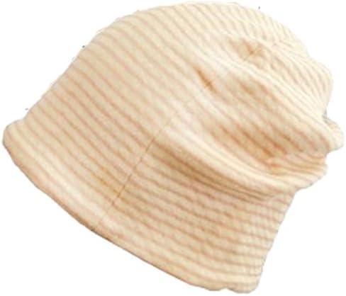 抗がん剤帽子 医療用帽子 オーガニック/ボーダーシャロット ピンク/医療帽子プレジール