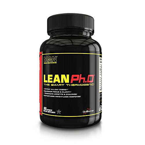 MAN Sports Lean Ph.D Thermogenic Fat Burner, Weight Loss, Energy Supplement, 90 Capsules