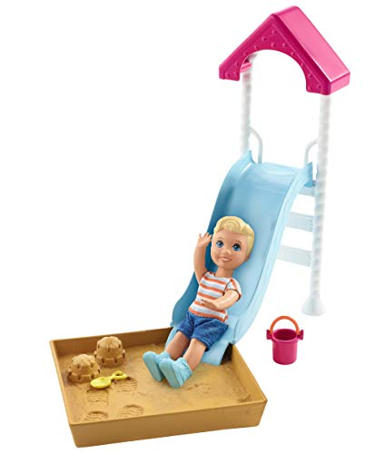 Barbie Skipper Babysitters Inc. Doll and Playset, Small Toddler Doll and Playground Piece with Slide and Sandbox, Plus Themed Accessories, Gift for 3 to 7 Year Olds
