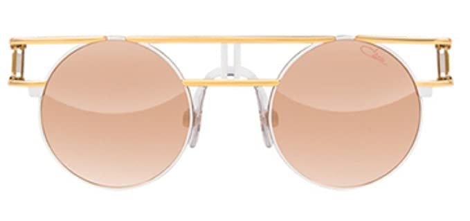 55e762e85c8 Image Unavailable. Image not available for. Color  Cazal 958 Sunglasses 332  Gold-White   Brown Lens 46 mm