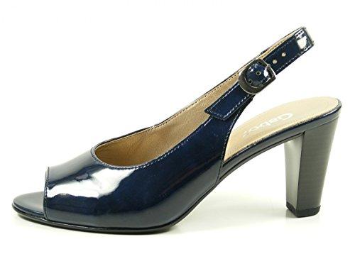 Gabor 81-834 Zapatos de Tacón de Cuero Para Mujer Blau
