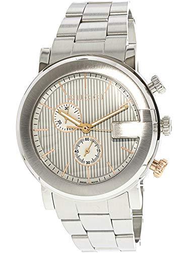 Gucci Men's G Chronograph Watch Quartz Mineral Crystal YA101360