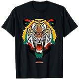Graphic Tee Shirt Fashion Animal Print Tiger Face T-shirt