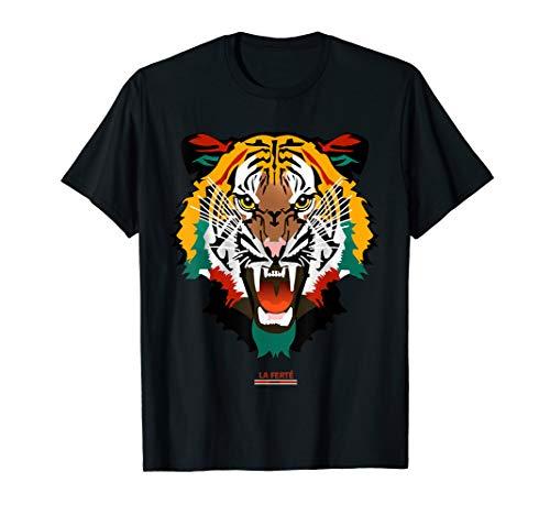 (Graphic Tee Shirt Fashion Animal Print Tiger Face T-shirt)