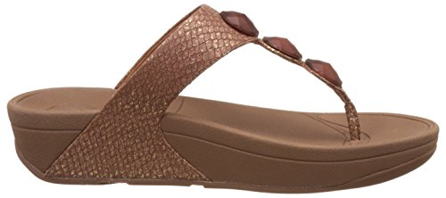 FitFlop Petra- Sandalias para mujer (COPPER) Marrón, talla 42