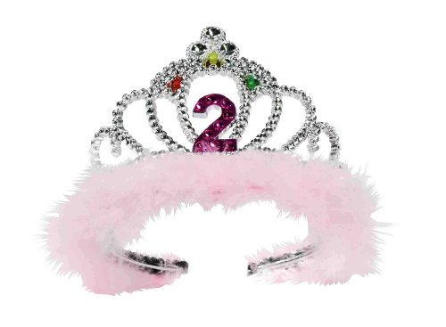 Forum Novelties 2nd Birthday Flashing Tiara (2 Year Old Little Girl Birthday Party)