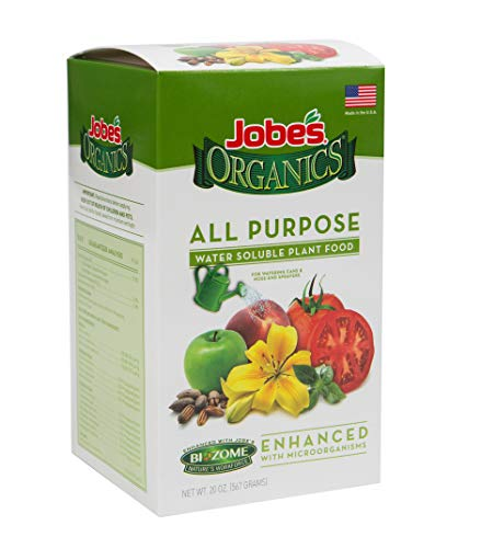 Jobe's Organics 08252 Plant Food Mix with Biozome, 20 oz