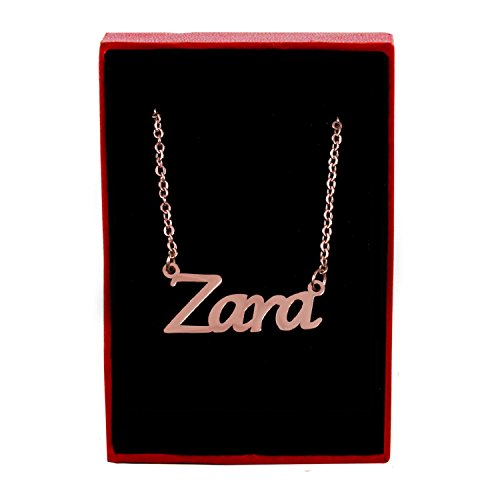 Zara Name Necklace - 18ct Rose Gold Plated for sale  Delivered anywhere in USA