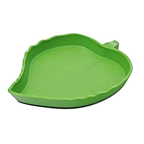 - ThinkPet Plastic Reptile Food and Water Bowl Terrarium Dish Aquarium Ornament Leaf L