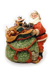Fitz And Floyd Christmas Cookie Jar with Santa (Old Fashi...