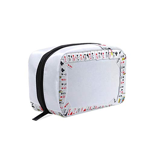 Cosmetic Makeup Bag Pouch Game Recreation Playing Cards -